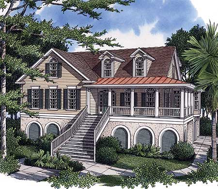 Low country living 9177gu architectural designs for Low country house plans