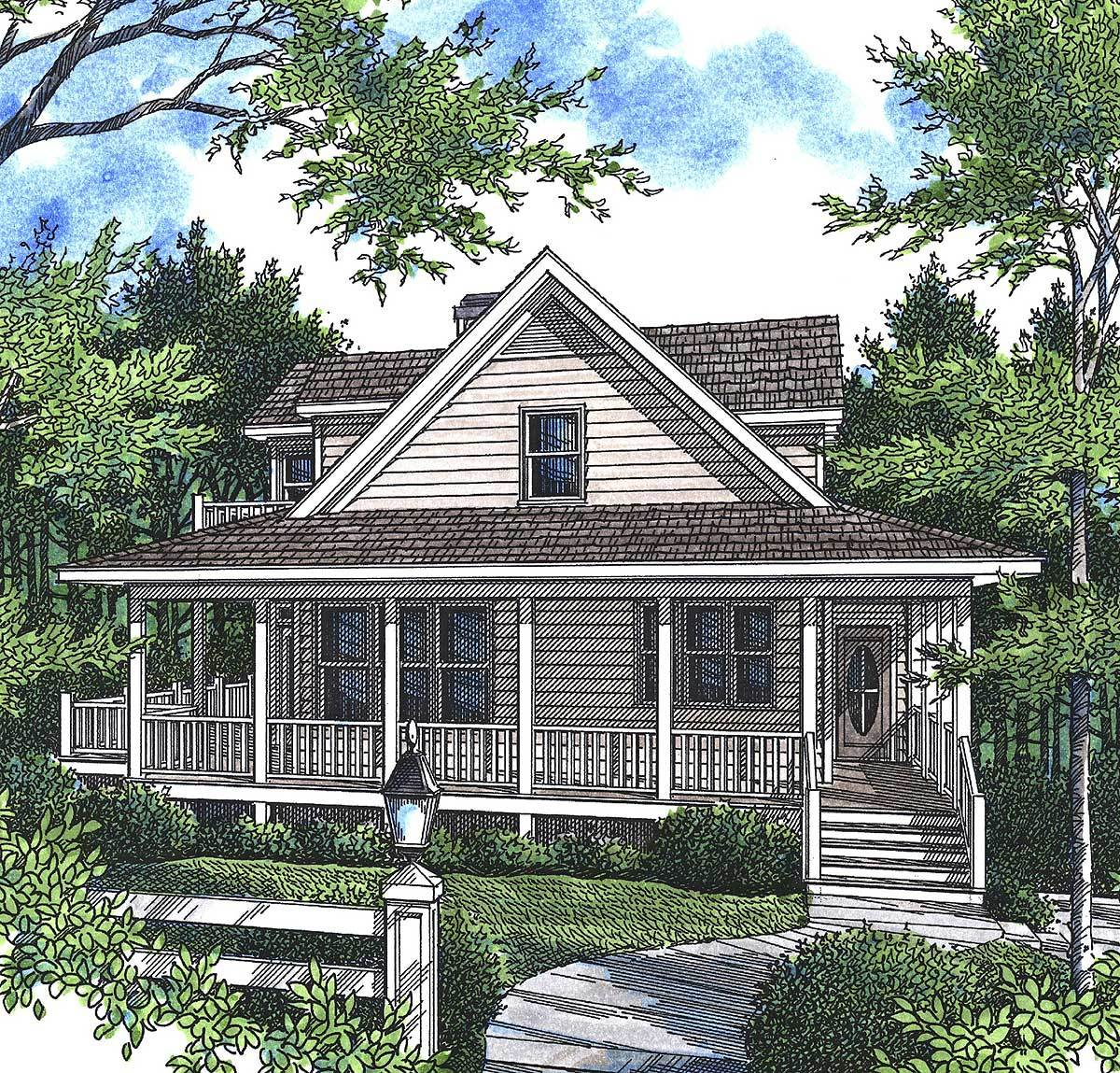 Perfect mountain cottage 92007vs architectural designs for Mountain cottage house plans