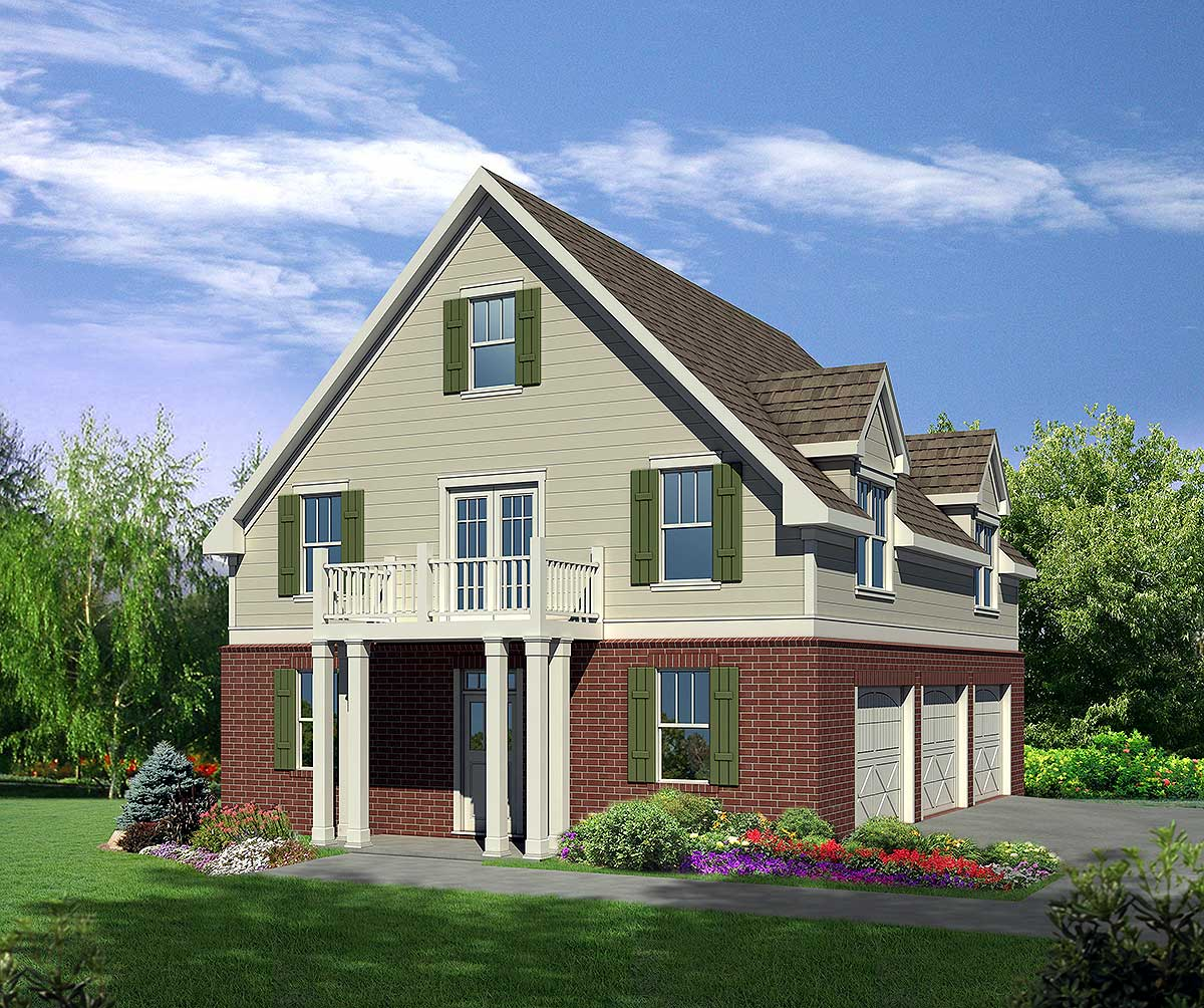 Architectural Designs Carriage House Plan 14631rk Gives: 2nd Floor Master Suite, Butler Walk-in Pantry