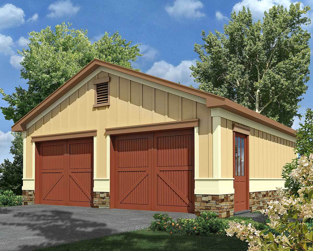 2 car garage with storage 92080vs architectural for Architectural plan storage