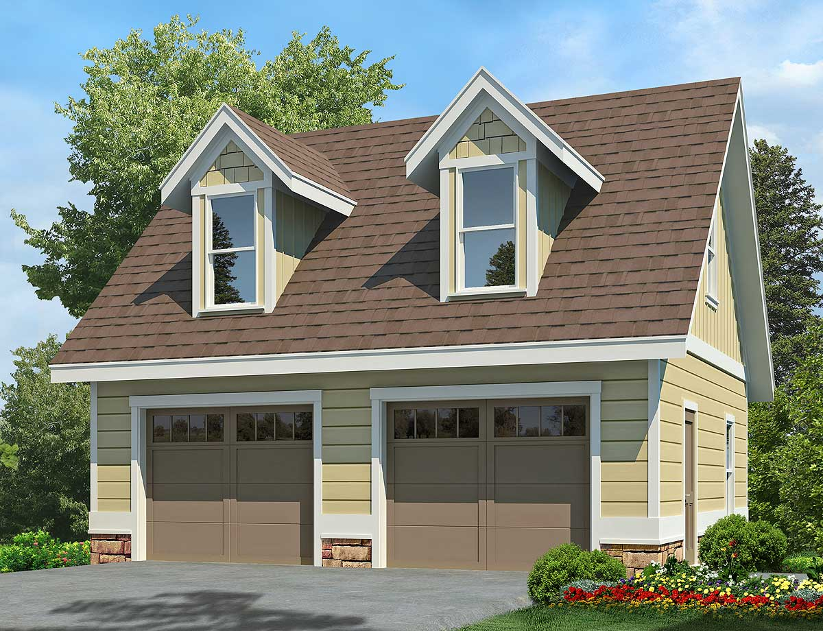 2 Car Garage With Dormers 92081vs Architectural