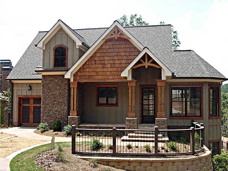 Vaulted spaces abound 92310mx cottage craftsman for Summer cottage house plans