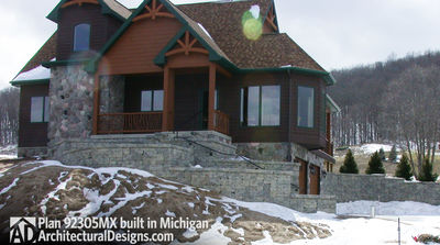 House Plan 92305MX comes to life in Michigan - photo 002
