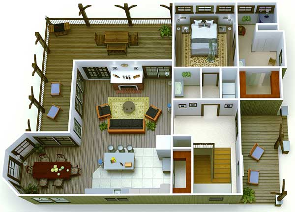 4 Bunks and 3 Beds - 92322MX floor plan - Main Level