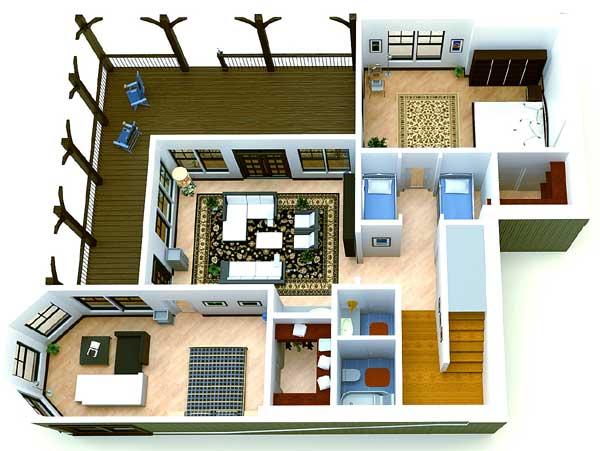 4 Bunks and 3 Beds - 92322MX floor plan - Basement