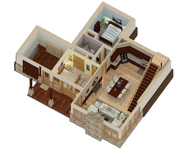 Unique Sunken Floor Plan 92323mx 1st Floor Master Suite Cad Available Cottage Exclusive