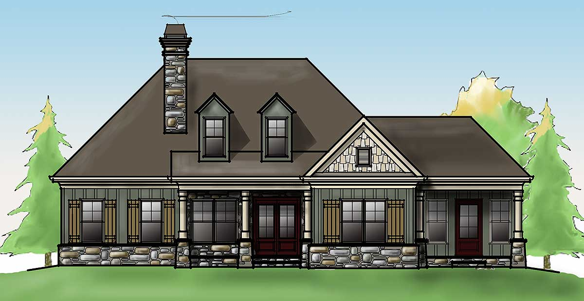 Craftsman charm with optional garage 92324mx for Architecturaldesigns com house plan 56364sm asp