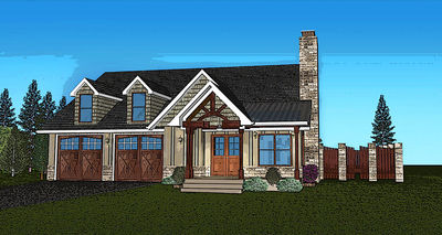 Side courtyard and optional elevator 92325mx for 1 story elevator