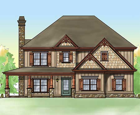 Rustic home with wrap around porch 92333mx 2nd floor for Rustic house plans with porches