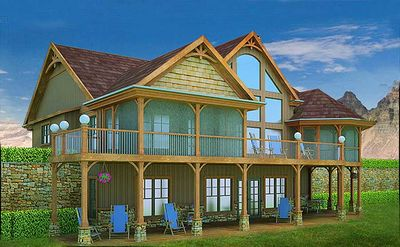 Mountain and lake escape home plan 92362mx for Adirondack cabin plans