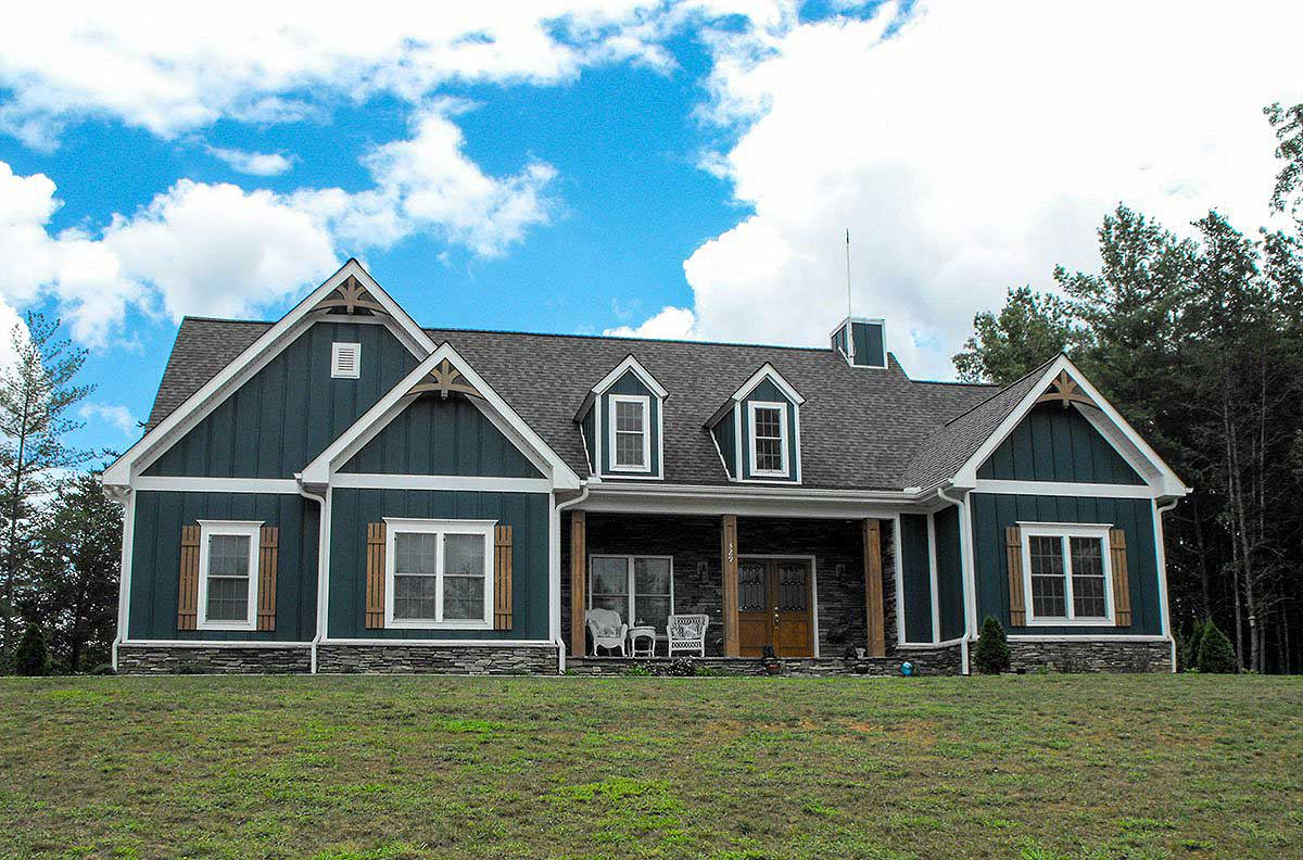 Architectural designs for Country craftsman home plans