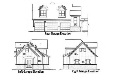3 Car Rustic Garage With Living Above 92369mx 2nd