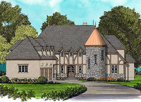 House plans turret home design and style for Home plans with turrets