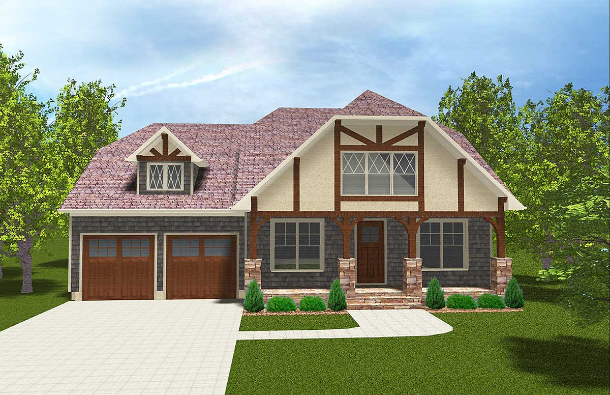 Master down with exterior options 93041el for Architecturaldesigns com house plan 56364sm asp