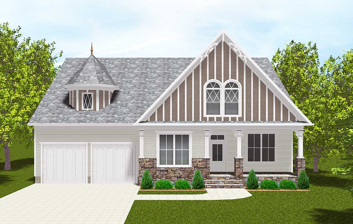 Flexible two story house plan 93044el 1st floor master for House plans with 2 story library