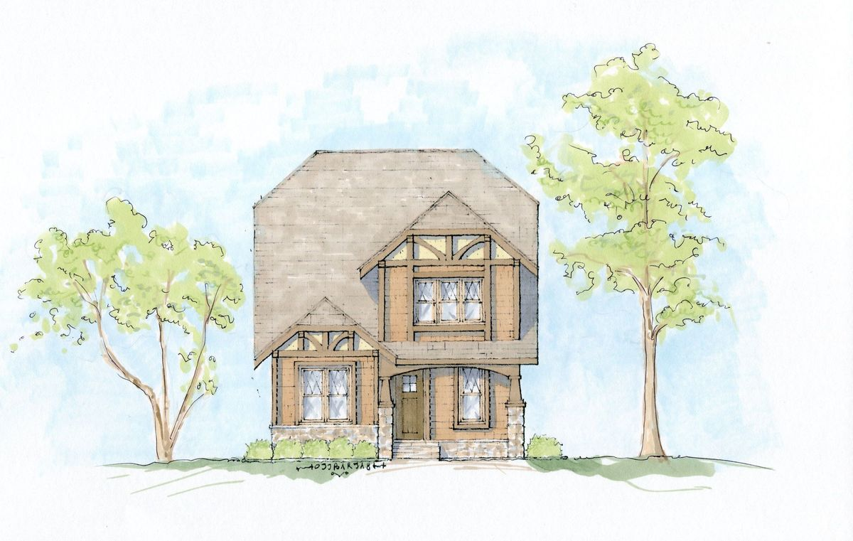 English Tudor Craftsman House Plan 93046el