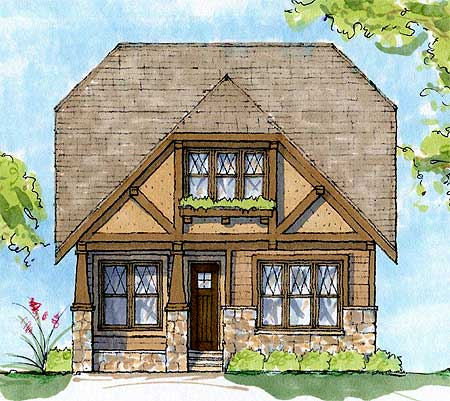 Architectural designs for English tudor cottage house plans