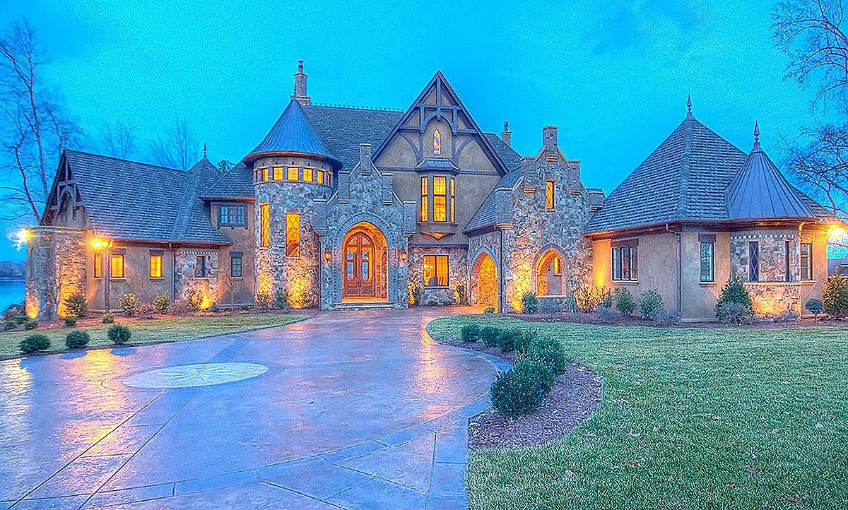Grand french country estate house plan 93077el for Estate home plans designs