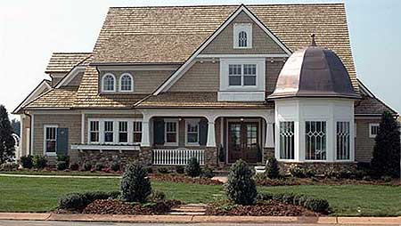 Classic shingle style 9318el 1st floor master suite for Luxury shingle style house plans