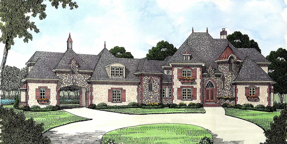French Country Estate Home Plan 9323el 1st Floor