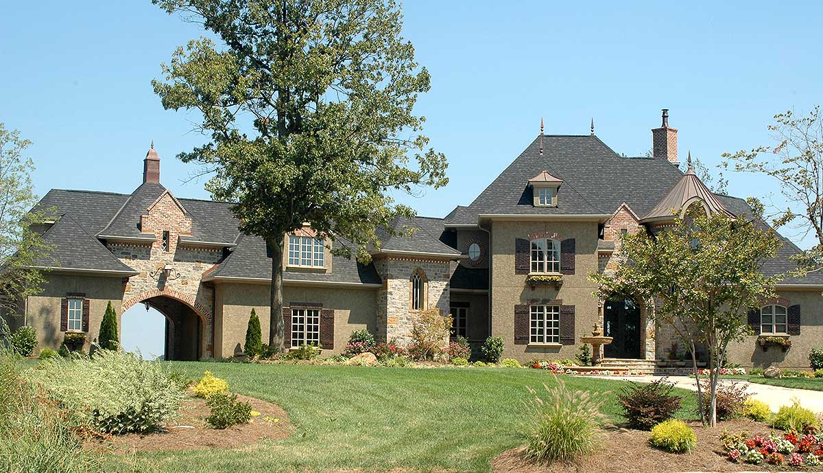 French country estate home plan 9323el 1st floor for Estate home floor plans