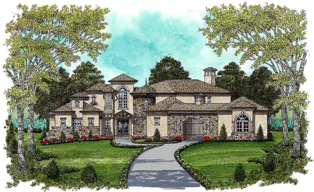 European estate home 9332el architectural designs for Estate home plans
