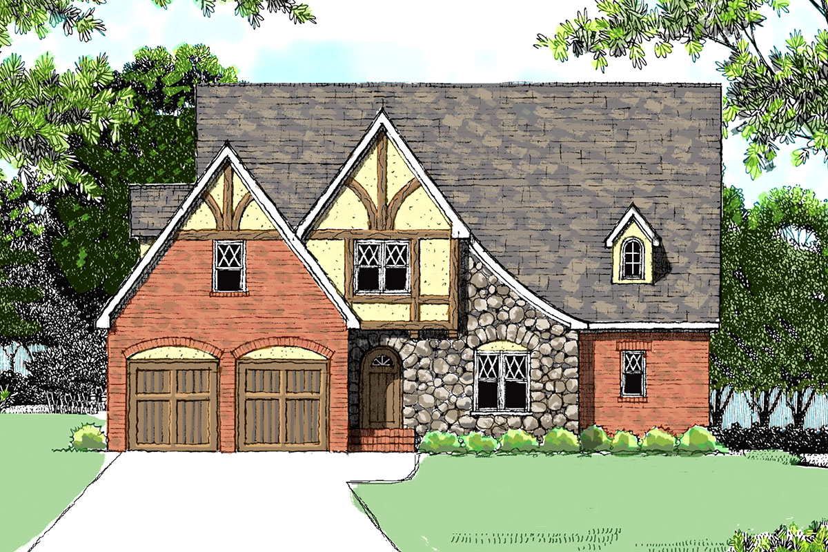 European tudor with four bedrooms 9334el architectural for Architecturaldesigns com house plan 56364sm asp