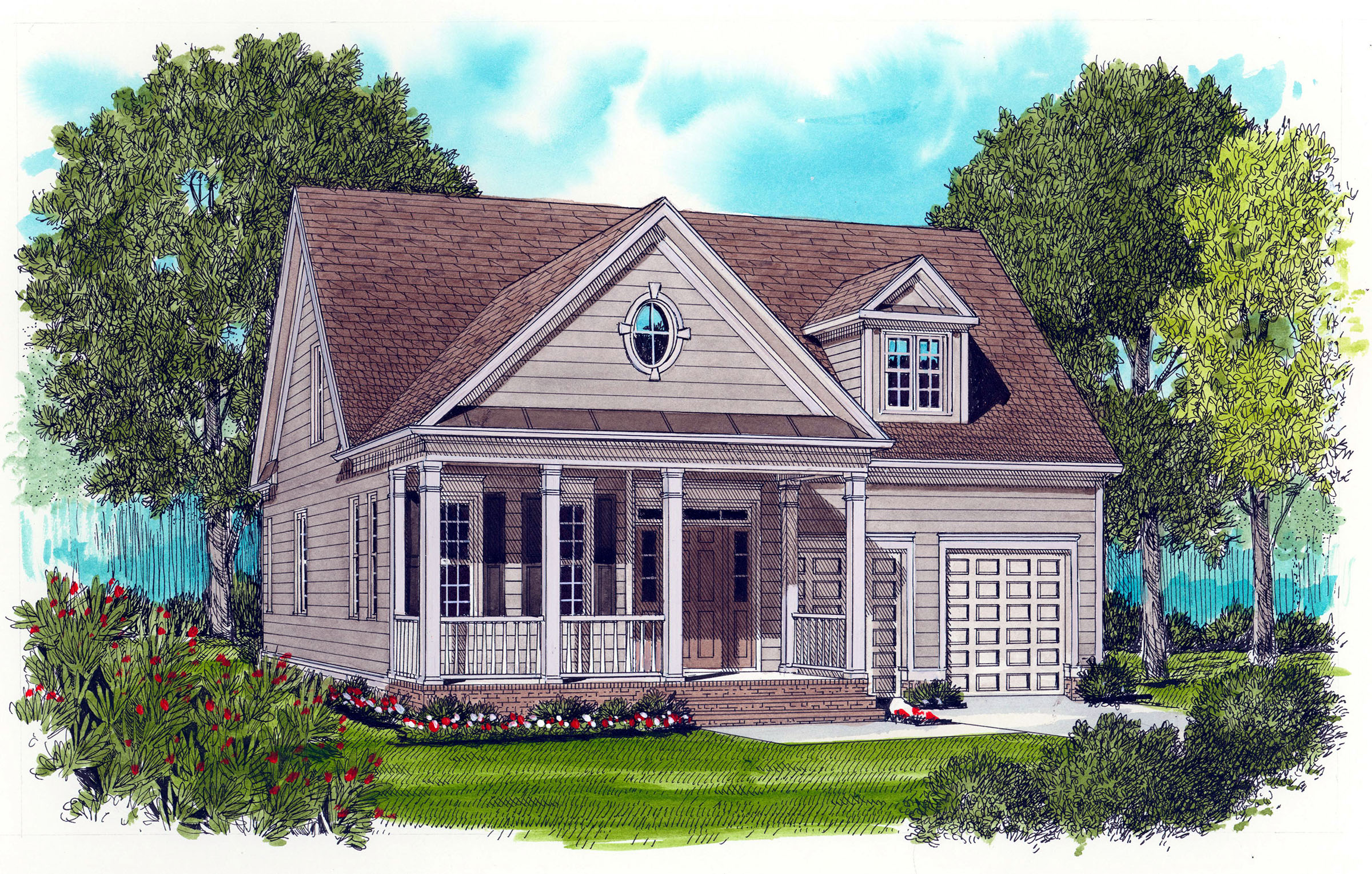 Covered Porch Home Plan 9360el Architectural Designs