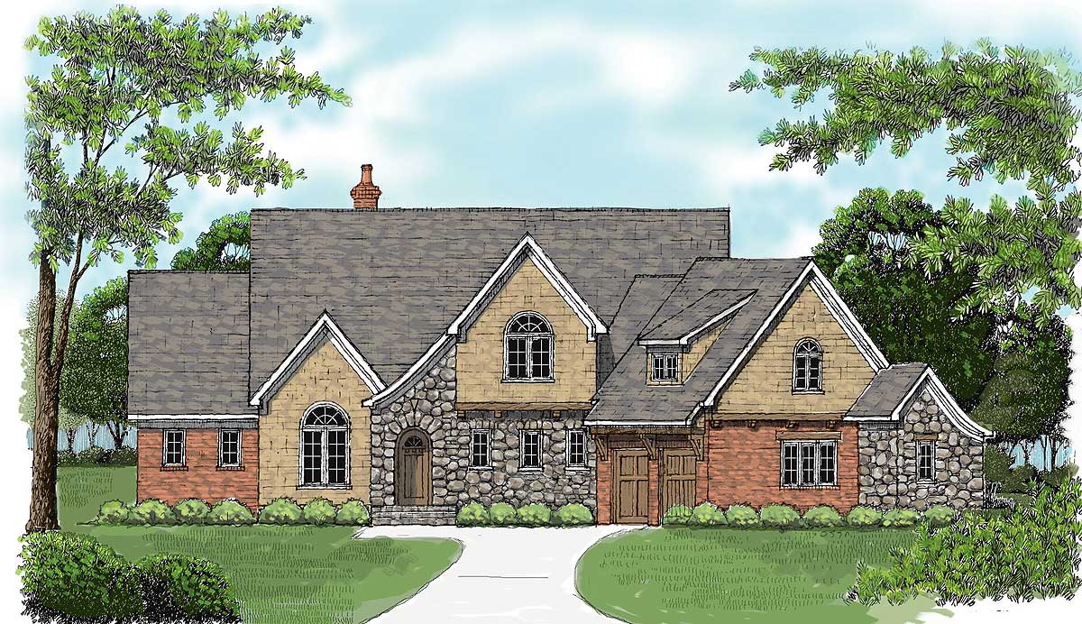 Old World Charm 9372el Architectural Designs House Plans