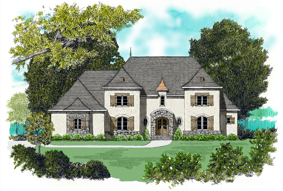 Stone and stucco 9375el architectural designs house for Stone and stucco house plans