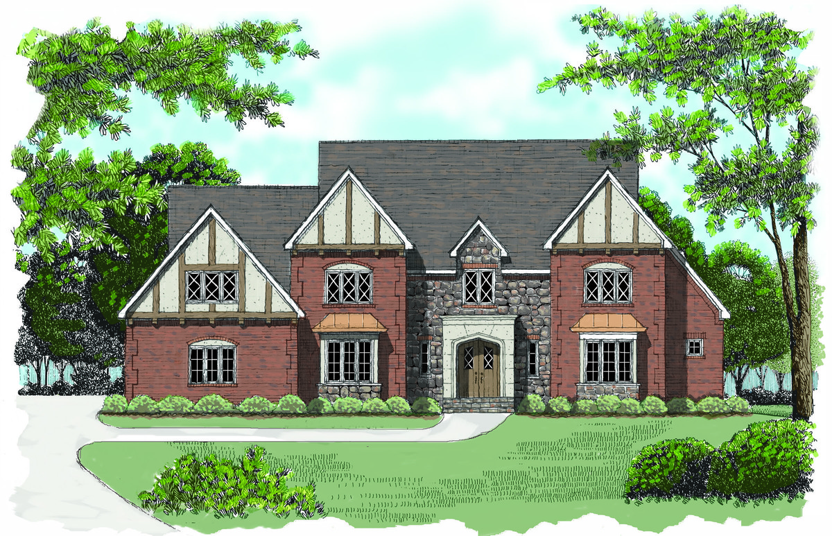 A touch of tudor 9377el architectural designs house for Tudor home designs