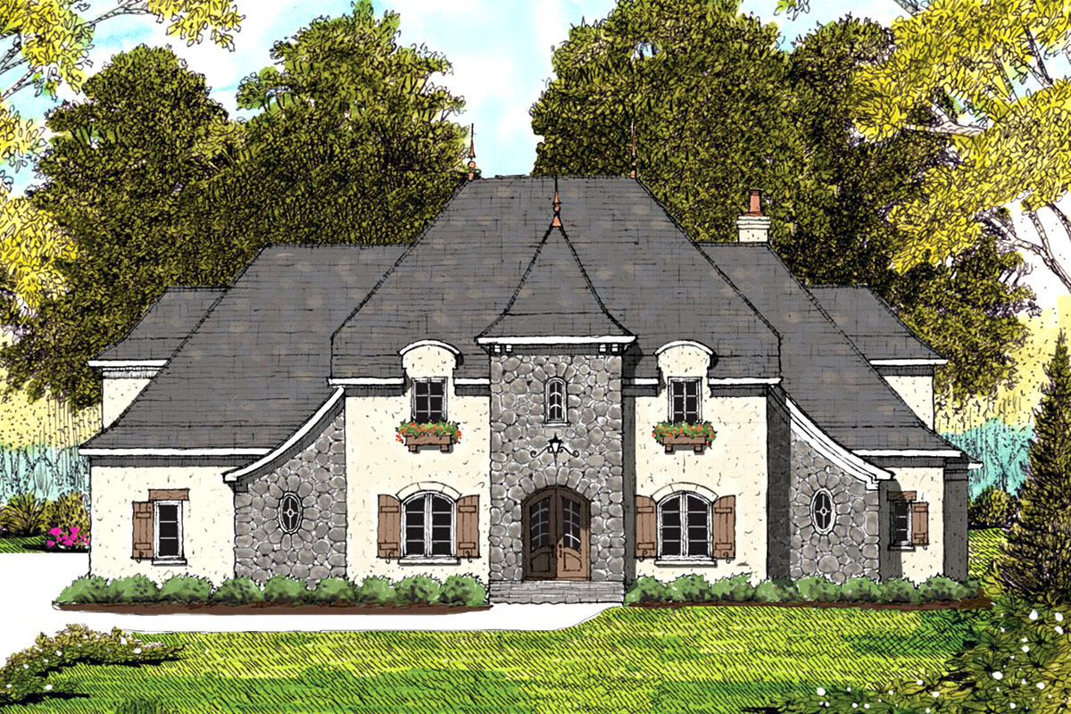 Beautiful Traditional European Style House Plan With An
