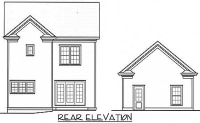 Four bedroom narrow lot home 9395el architectural for Narrow lot 4 bedroom house plans