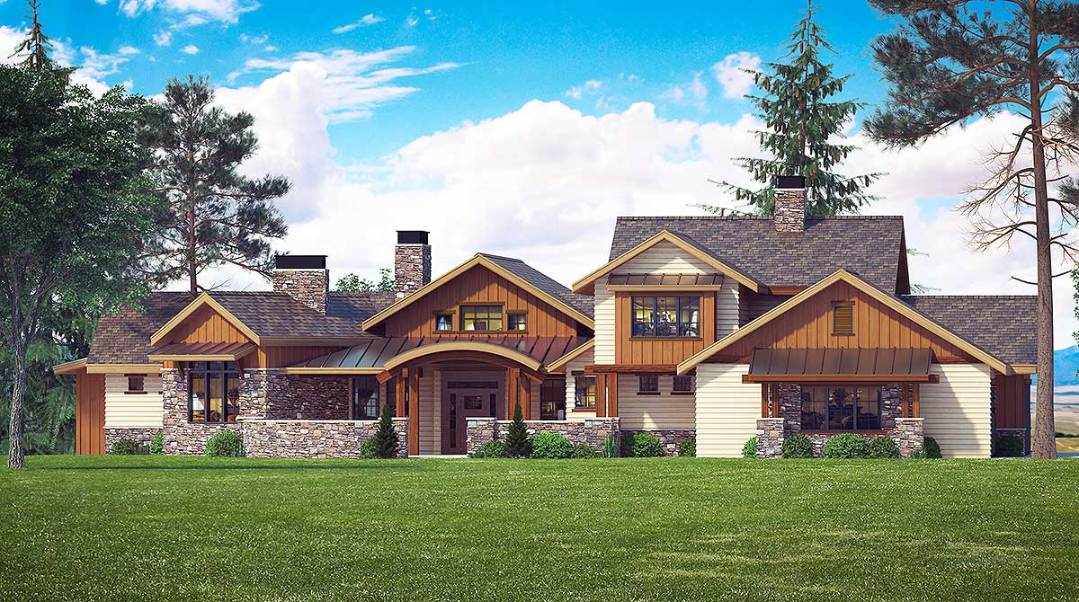 Mountain Elegance With Arched Entry 95020rw 1st Floor