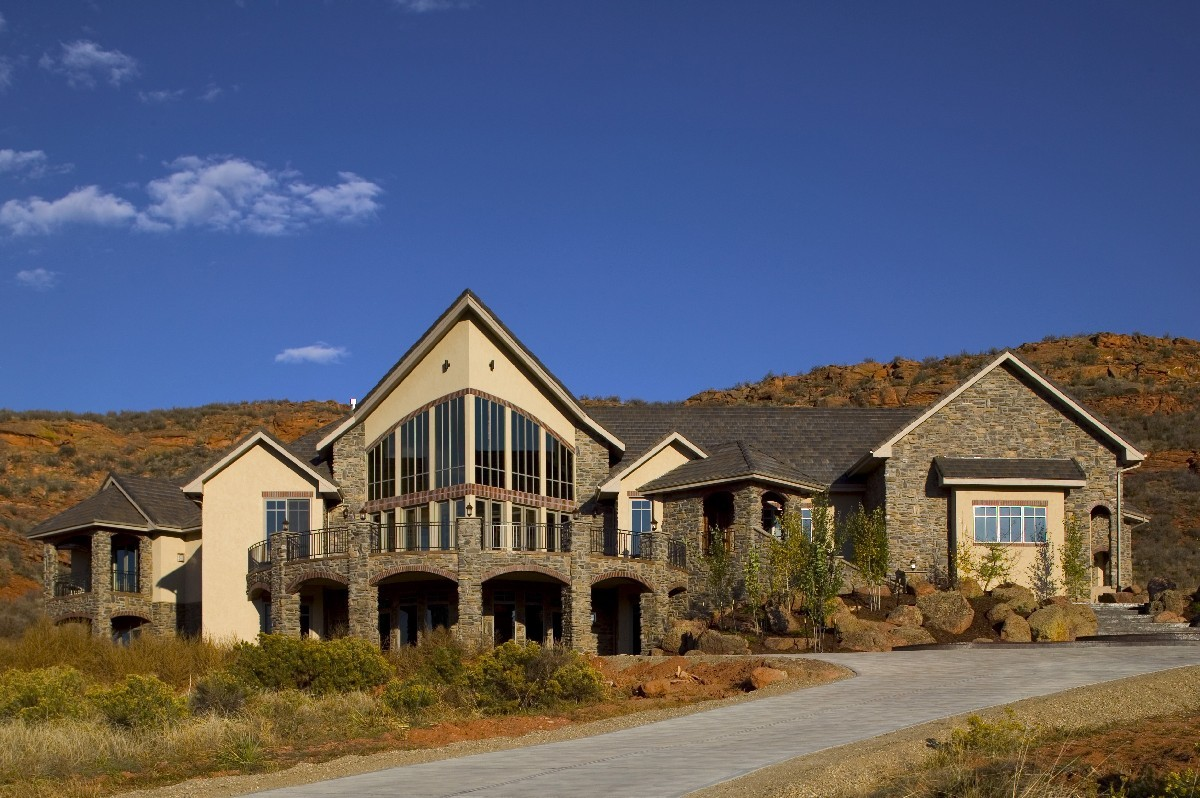 Stunning mountain home plan 9506rw architectural for Architectural design mountain home