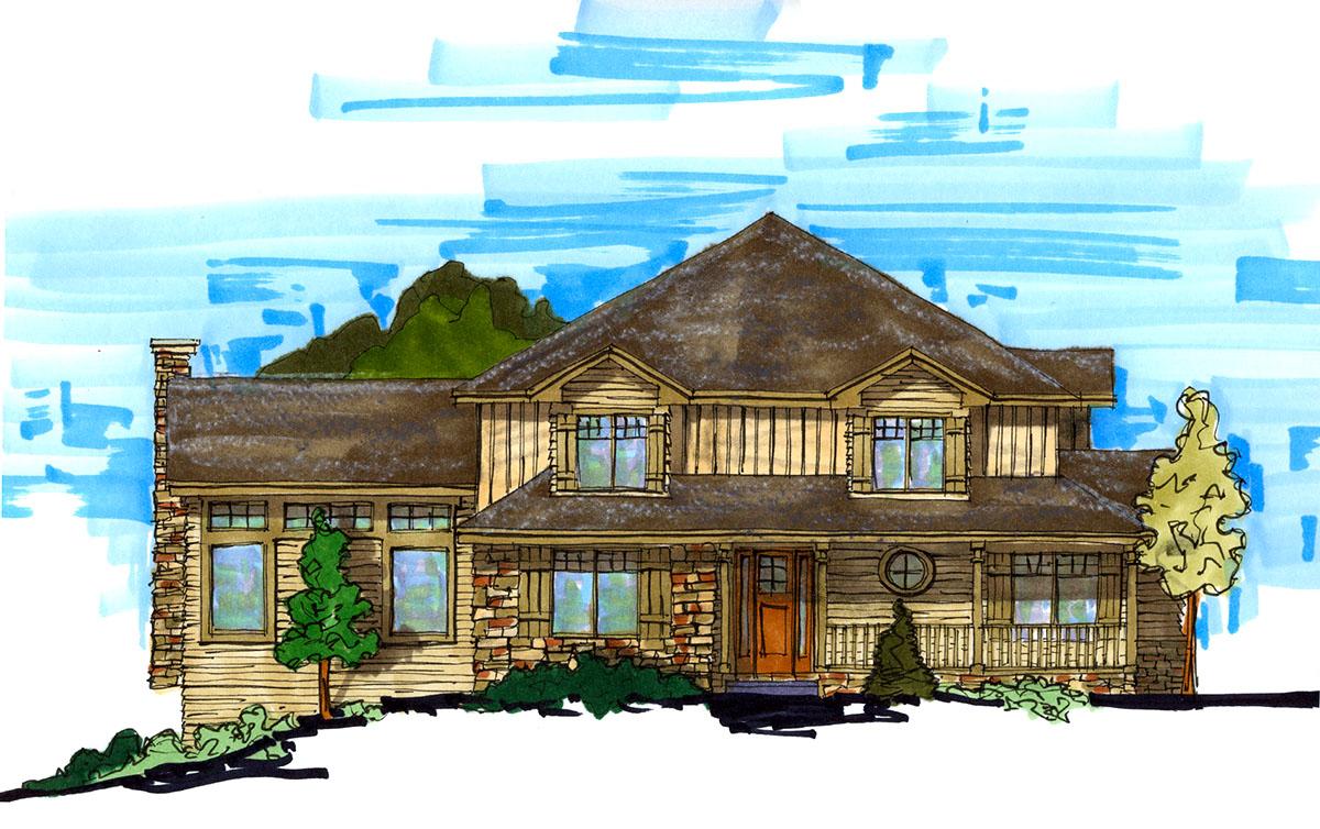 Rustic craftsman home plan 9507rw architectural designs house plans for Architecture design home plans
