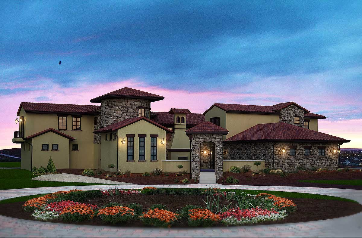 Courtyard showstopper 9528rw architectural designs for Design your house