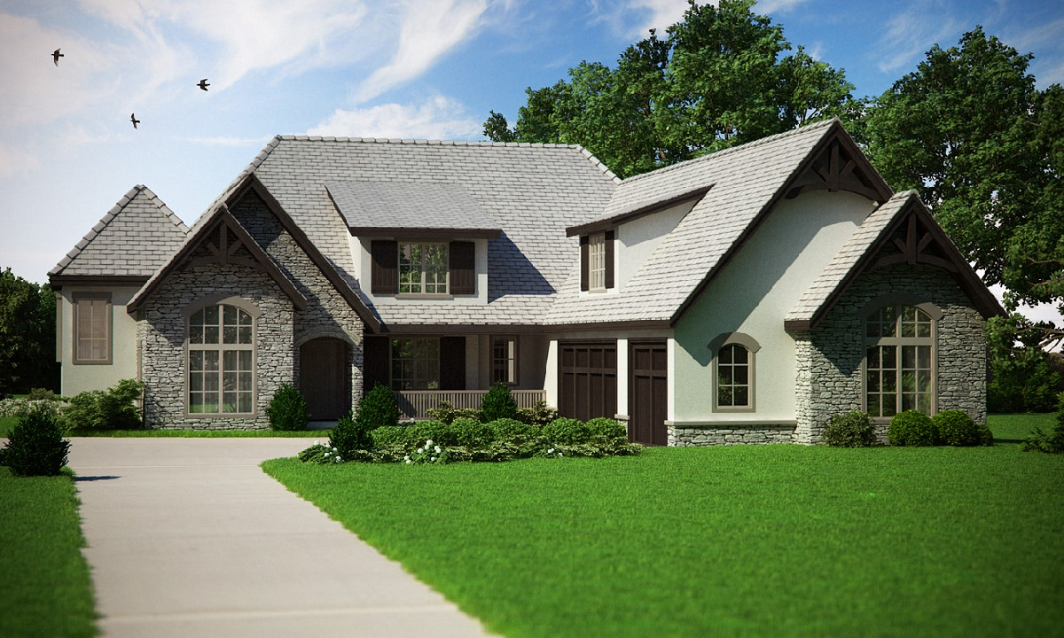 European home plan with in law suite 9549rw 2nd floor for Home plans in law suite