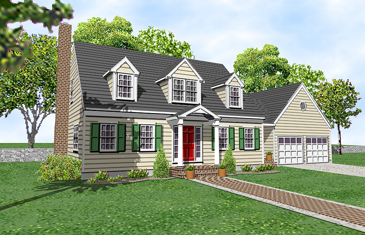 Compact and cape 9550dm architectural designs house for Cape plans
