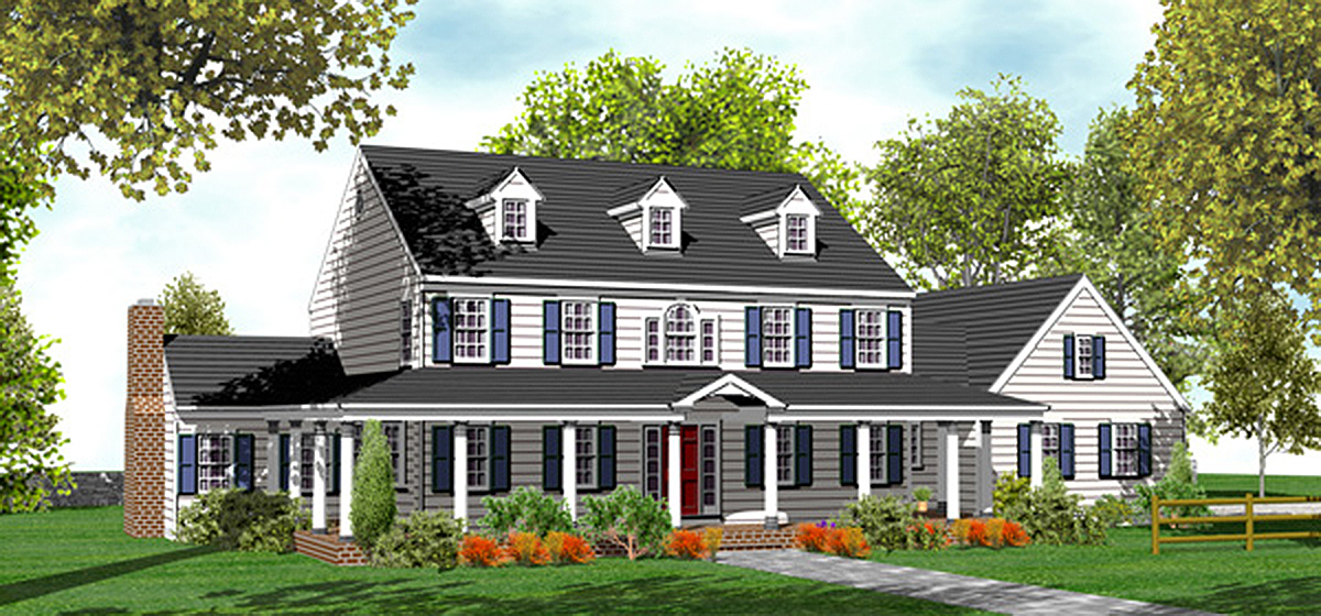 Classic Country Farmhouse Plan 9552dm Architectural