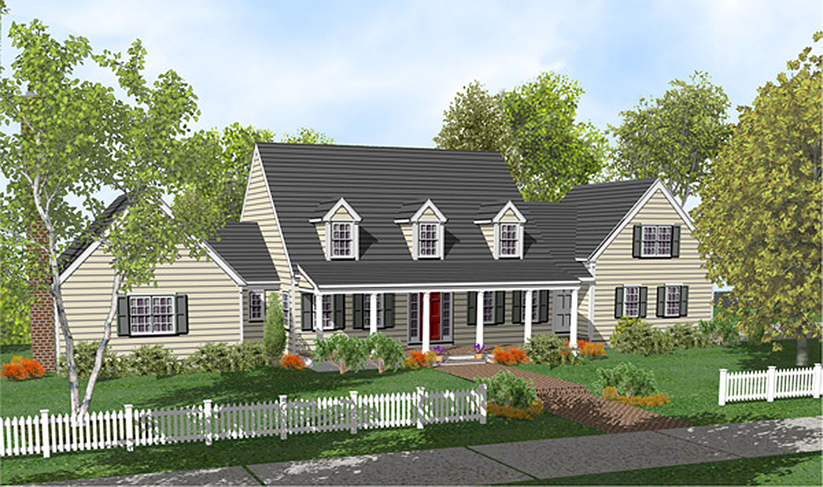 Customizable welcoming design 9553dm architectural for Cape cod expansion design ideas