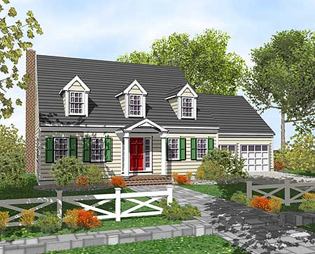 customizable cape cod classic 9554dm 2nd floor master On classic cape cod house plans