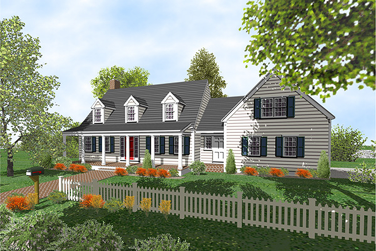 Customizable comforting house plan 9556dm 2nd floor for Cape cod plans