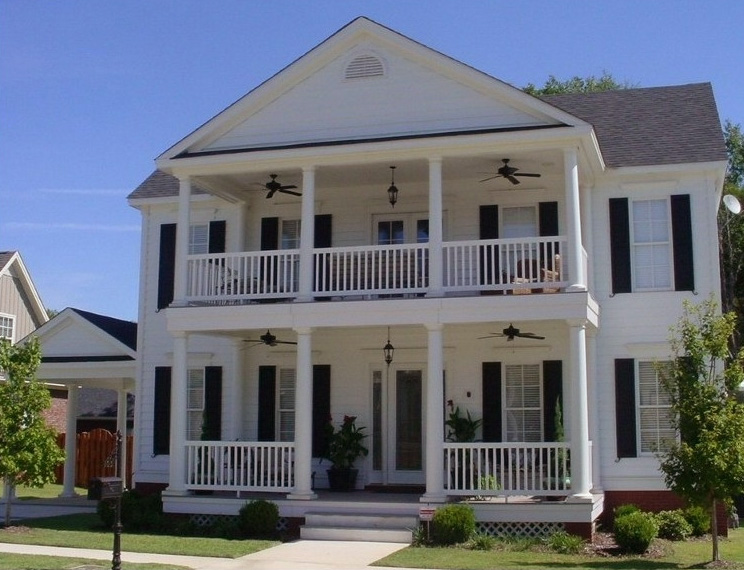 Double Porch Home Plans House Design Ideas