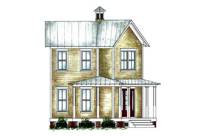 Narrow Lot Southern House Plan 9749al Architectural
