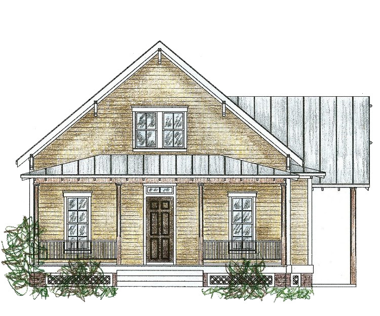 Cozy southern cottage 9756al architectural designs for Cozy cottage home designs