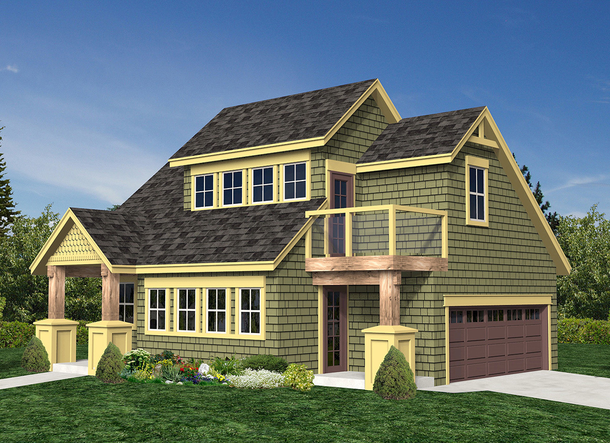 Vacation cottage or carriage house 9814sw for Large carriage house plans