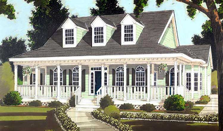 Trio of gabled dormers 99931mw architectural designs for House plans with dormers and front porch