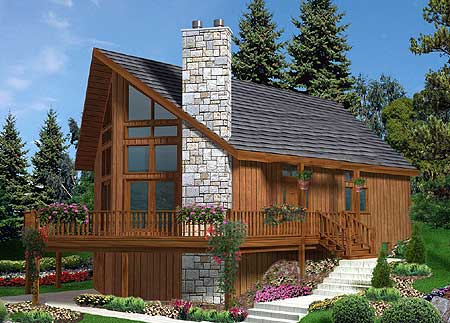 Rustic chalet 99919mw contemporary mountain vacation for Chalet style home kits