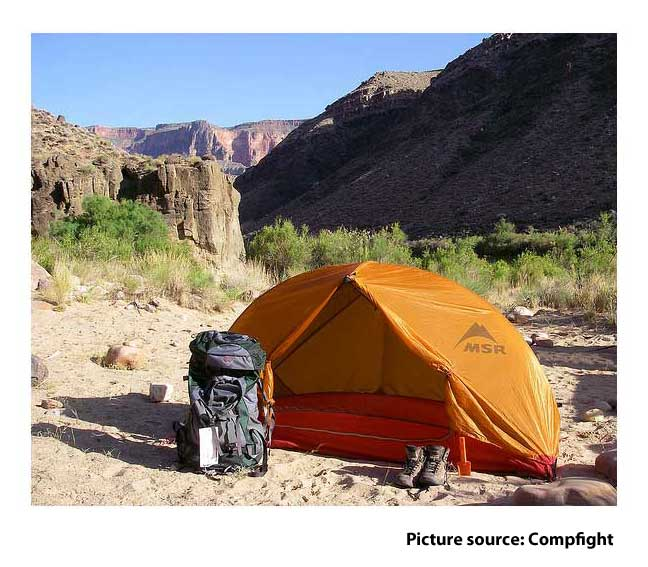 Tent for Camping, Backpacking, and Hiking in the mountains.